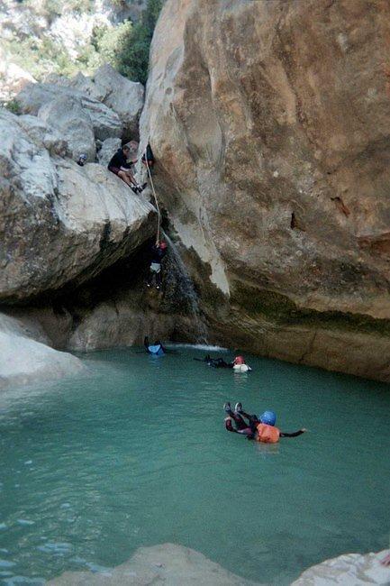 descente d'un canyon