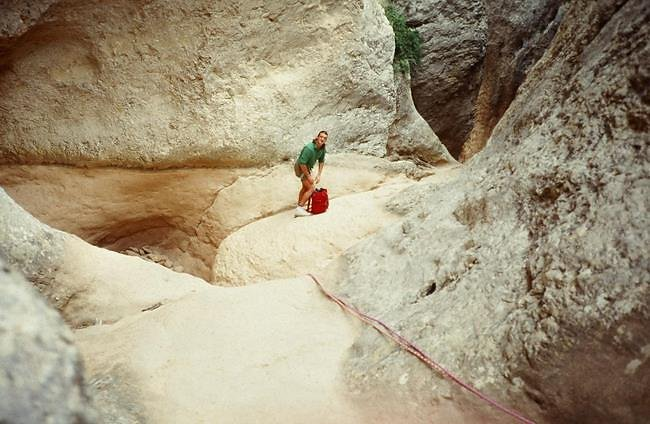canyon sec de la sierra de guara