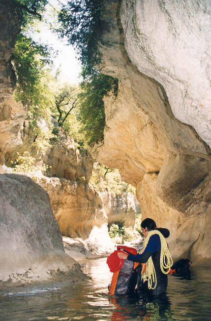 l'equipement canyoning