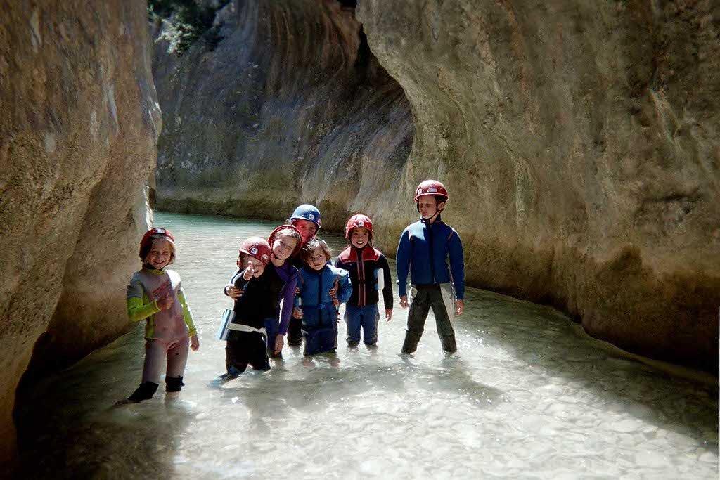 canyoning pour les enfants