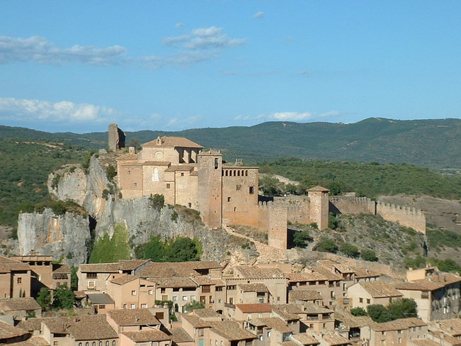 village d'Alquezar et sa colegiata
