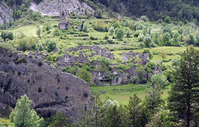 les villages abandonnées de la sierra de guara