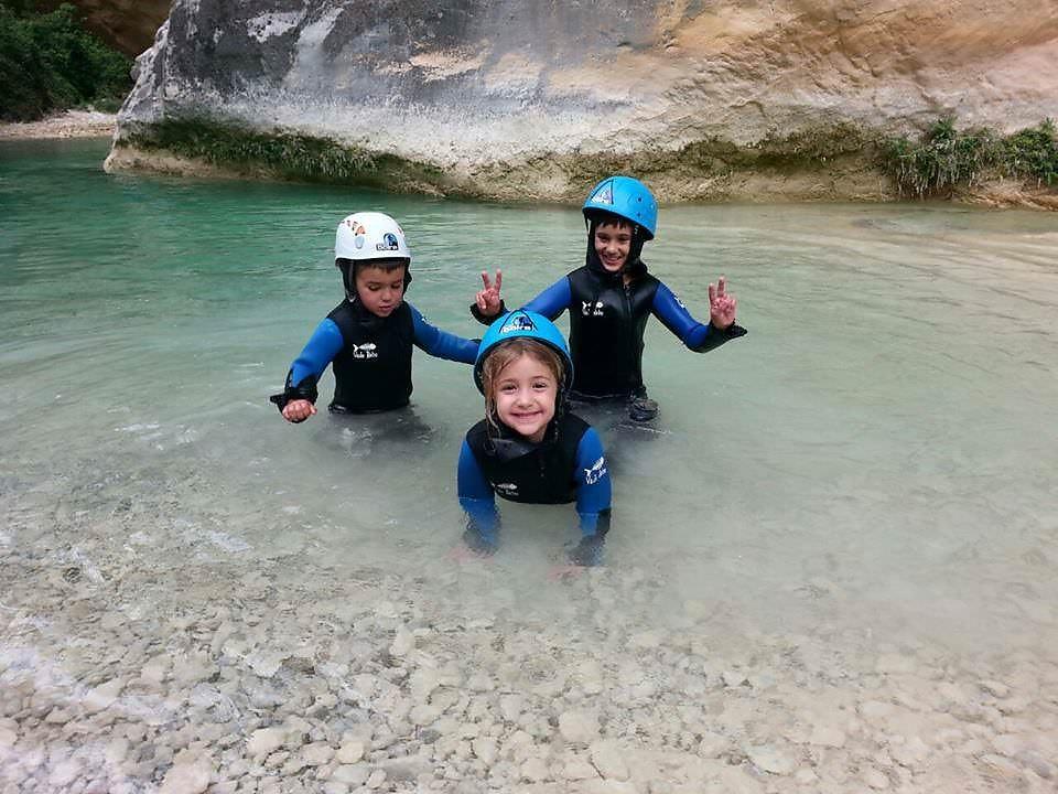 canyoning avec enfants